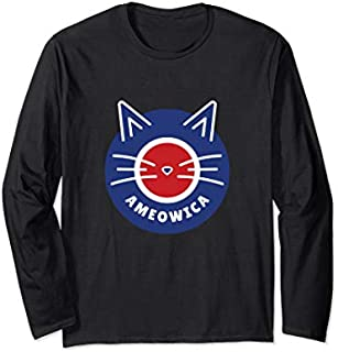 Ameowica cat funny 4th of july shirts independence Long Sleeve T-shirt | Size S - 5XL