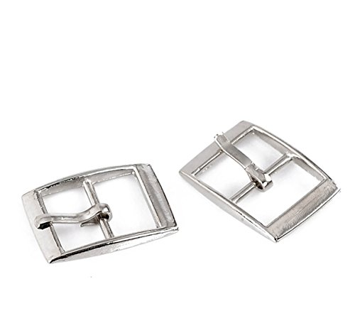 [Housweety 30 Silver Tone Shoes Buckles Accessory 25x19mm(1