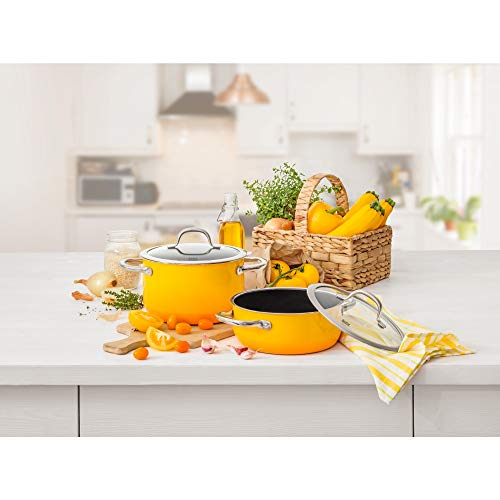 Silit Silargan 4-Piece Saucepan Set, Dark Yellow
