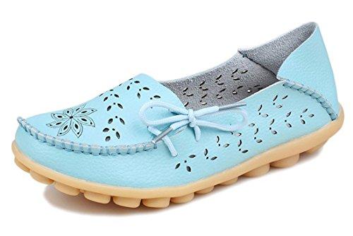 Clair Les Chaussures Femmes Mocassins Auspicious Pour Bleu Bateau Évidements Décontractés Creux Beginning CBCPwqa