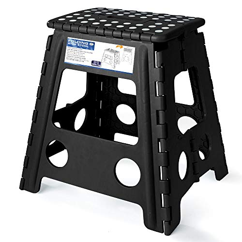 Acko 16 Inches Super Strong Folding Step Stool for Adults and Kids, Kitchen Stepping Stools, Garden Step Stool ()