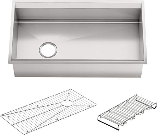 KOHLER K-3673-NA 8 Degree Large Single Kitchen Sink ()
