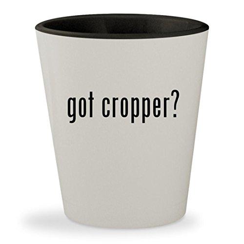 Cropper Hopper Photo (got cropper? - White Outer & Black Inner Ceramic 1.5oz Shot Glass)