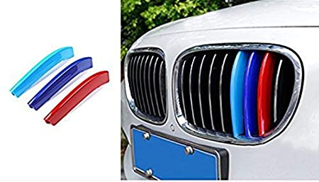9 Grilles -Kidney Grills Insert Accessories-M-Color Front Grille Stripe Decals More Comprehensive and Professional Sataka-for BMW 3 Series GT F34 328i 320i 335i 2013-2016