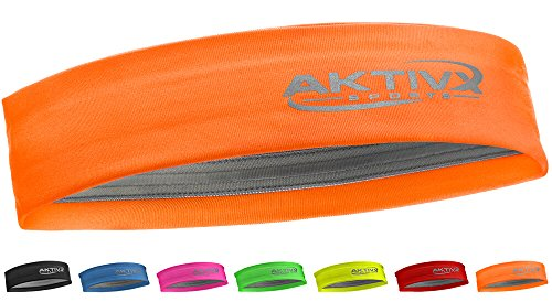 AKTIVX SPORTS Fitness Headband, Sports Headbands for Women, Fashion Headband, Running Headband, Women Headband, Men Headband, Yoga Exercise Headband - Orange