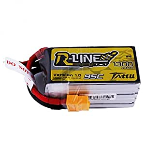 Tattu R-Line 1300mAh 18.5V 95C 5S1P Lipo Battery Pack with XT60 Connector