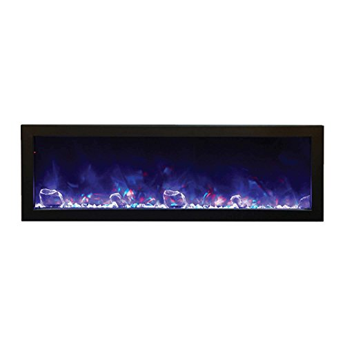 Cheap Amantii BI-50-SLIM-OD Outdoor Panorama Series Slim Electric Fireplace 50-Inch Black Friday & Cyber Monday 2019