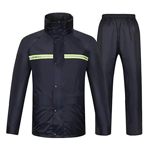 ZBXK Wasserdichter Anzug für Männer Frauen Regenbekleidung Jacke Hosen Set, 100% wasserdicht, atmungsaktiv, gut sichtbar…