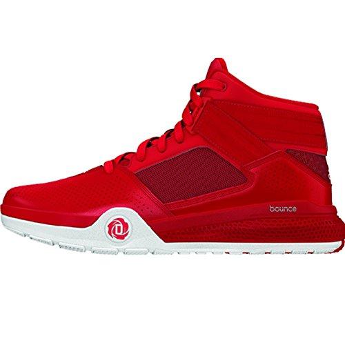 Adidas Rose D 773 Iv Mens De Chaussures De Basket-ball 16 Rouge-noir-blanc