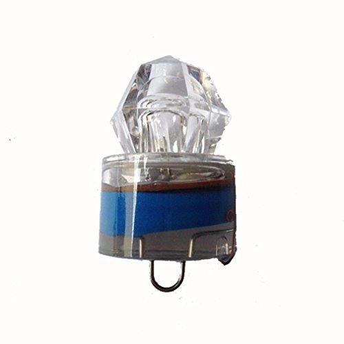 Perman Water Activated Deep Drop Underwater Diamond LED Fishing Flashing Light Bait Lure Squid (Blue )