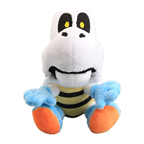Bowser Bones - UiUoU Super Mario Bros. Dry Bones Skeleton Koopa Turtle Plush 7''