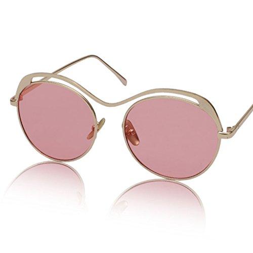 Gafas de 6 sol Gafas X135 sol Color de Gafas 4 Redondas Retro de Color Transparentes ZBnTqTwpx