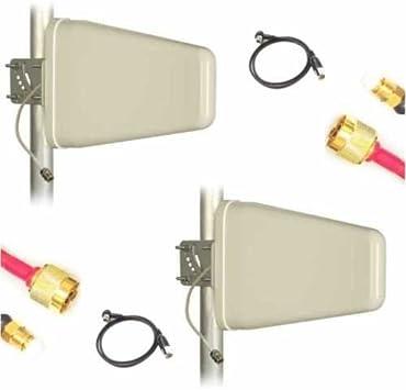 Antena para Vodafone K5005 2 x Nf 800 mhz LTE 2 x 10 m de cable