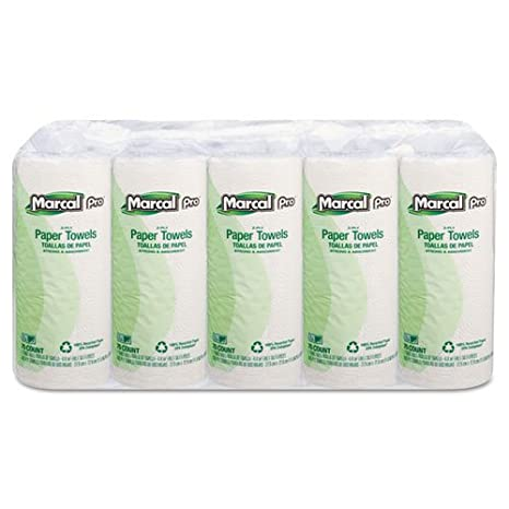 Amazon.com : Marcal Two-ply Kitchen Paper Towels-Kitchen Towell Roll, 2-Ply, 70Shts, 15RL/CT, WE : Office Products