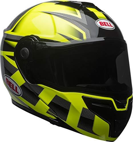 Bell SRT Modular Street Motorcycle Helmet(Predator Gloss Hi-Viz Green/Black, Medium) (Bell Motor Cycle Helmet)