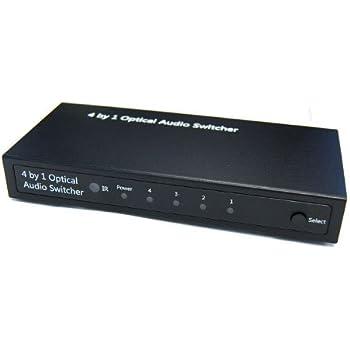 Amazoncom Digital Optical Way Audio Switcher Home Audio Theater - 2 way optical switch