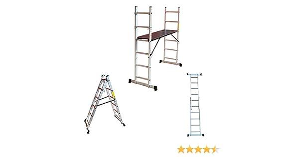 Aluminio Multi Andamio multifunción Escalera escalera escalera ...