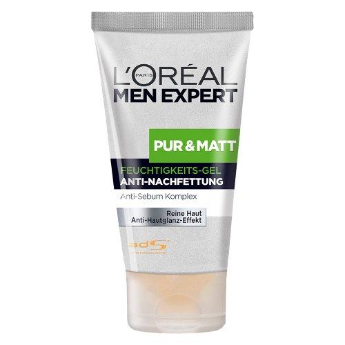 L'Oréal PARiS A09107 Men Expert Pur und Matt Pflege Feuchtigkeits Gel