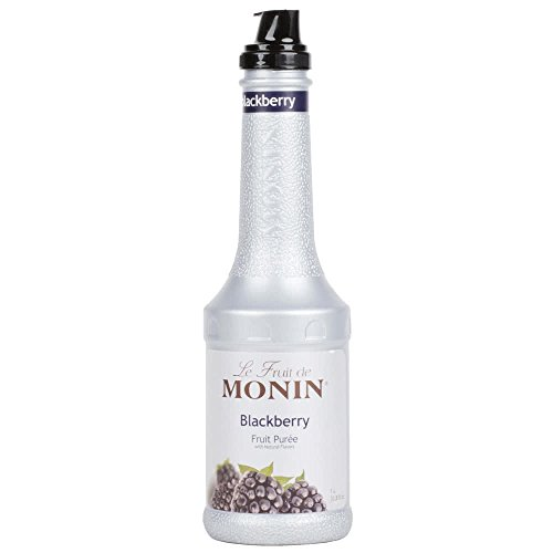 Monin 1 Liter Blackberry Fruit Puree Pack of 4 by TableTop King