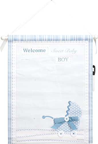 Transpac canvas Baby Boy Banner Auotographable by Transpac