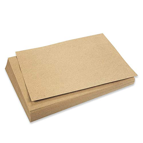 Best Paper Greetings 96-Pack Brown Kraft Letter Sized Stationery Paper, 120GSM for Arts, Crafts, and Office Use, 8.5 x 11 ()