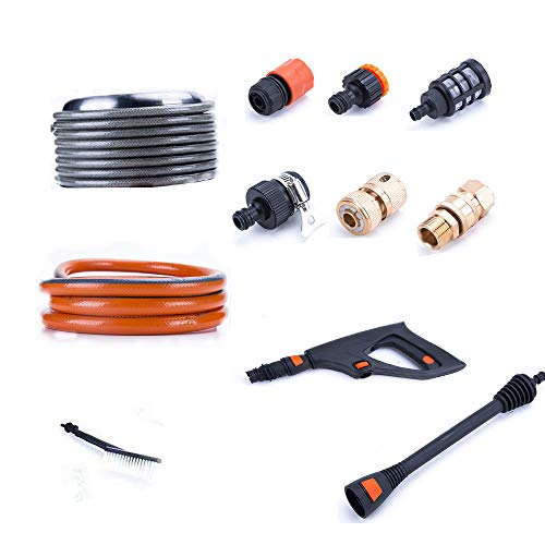 (K KARL 10 Pieces Pressure Washers Accessories Brush Connectors and Guns)