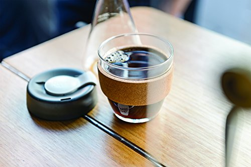 KeepCup 8oz Reusable Coffee Cup. Toughened Glass Cup & Natural Cork Band. 8-Ounce/Small, Espresso by KeepCup (Image #2)