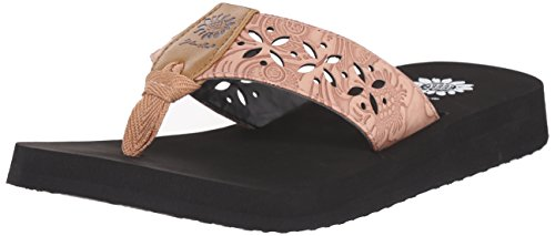 Yellow Box Women's Damara Flip Flop, Blush, 7 M US (Yellow Box Flip Flops Brown compare prices)