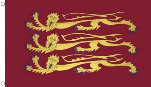 AZ FLAG Bandera de Rey Ricardo CORAZÓN DE LEÓN 90x60cm - Bandera del Rey Ricardo I DE Inglaterra 60 x 90 cm: Amazon.es: Hogar
