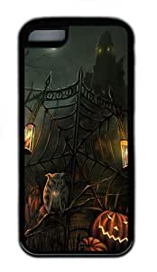 iPhone 5C Case Cover - Halloween Scary Horror Gate TPU Case Cover For iPhone 5C - Black