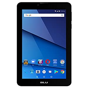 "BLU Touchbook M7 PRO 7"" Unlocked GSM 3G + Wi-Fi Android 7.0 (Nougat) Quad-Core Tablet PC - Black"