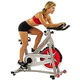 Sunny Health & Fitness Bicicleta de Ejercicios Profesional de Ciclismo de Interior de Cadena con Volante de Inercia de 18 KG SF-B901