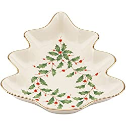 Lenox Holiday Tree Candy Dish,Ivory