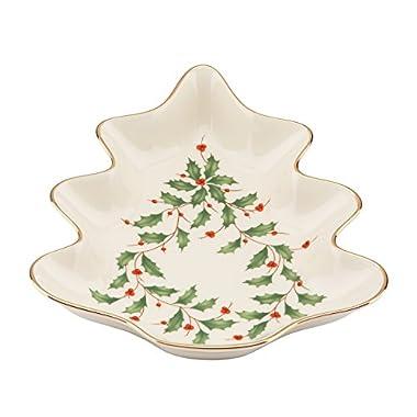 Lenox Holiday Tree Candy Dish,Ivory