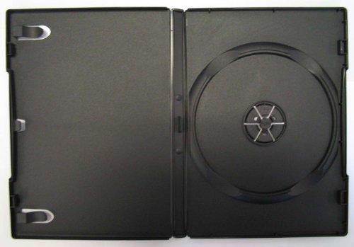 10 STANDARD Black Single DVD Cases 14MM - Black Cases 10 Dvd Disc