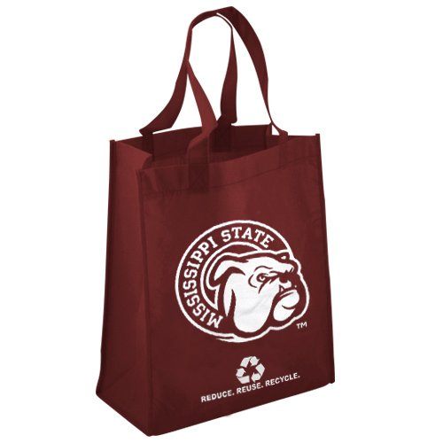 FOCO Mississippi State Printed Non-Woven Polypropylene Reusable Grocery Tote Bag Alternate by FOCO