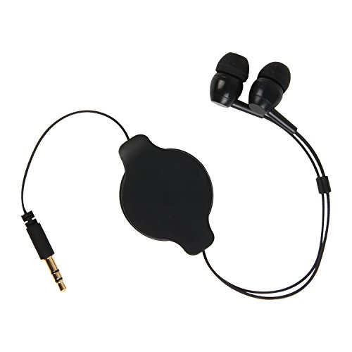 Pilot Electronics CA-4213E 3 Foot Retractable Headphones, Black