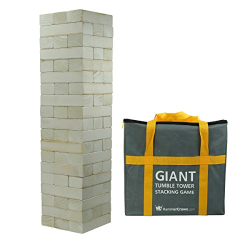 Hammer Crown Giant Tumble Tower White Distressed Finish; with FREE bonus block bottle opener by Hammer Crown