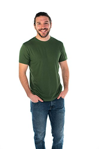 (ONNO Men's Bamboo T-Shirt XL Moss Green )