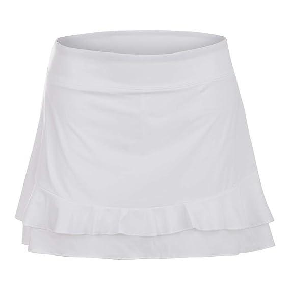 c84cec88286233 Amazon.com: Fila-Women`s Double Ruffle 13.5 Inch Tennis Skort White-():  Clothing