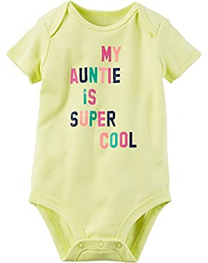 Baby Girls' Aunt Super Cool Bodysuit