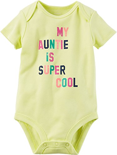 Carter's Baby Girls' Aunt Super Cool Bodysuit 6 Months