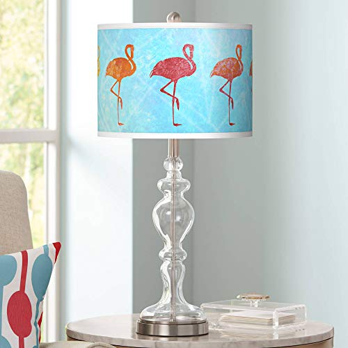 Flamingo Shade Giclee Apothecary Clear Glass Table Lamp - Giclee Glow