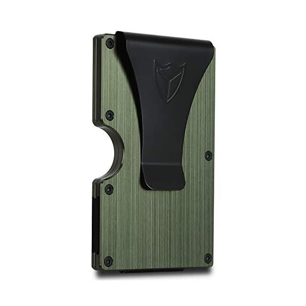 Slim Wallet for Men RFID Blocking Aluminum Wallet Carbon Fiber Card Case Metal Wallet Minimalist Front Pocket Card Holder