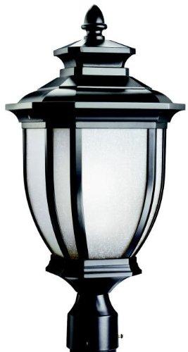 Kichler 9938BK Salisbury Outdoor Post Mount 1-Light, Black