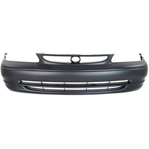 Front Bumper Cover Primed Compatible with 1998-2000 Toyota Corolla