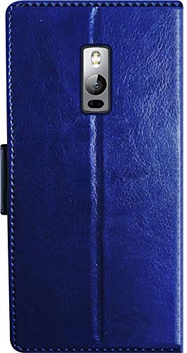 SBMS Leather Flip Cover for OnePlus 2  Blue