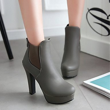 Women's Round Zipper Boots Shoes Ankle Party Booties Chunky Fashion Comfort amp; Leatherette Winter PU Fall Boots For red Toe Novelty Boots Heel qqrwpg