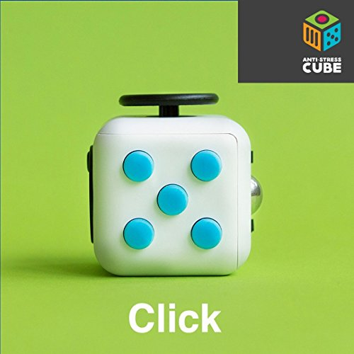 Anti-Stress Cube | Stress reliever brain toys office desk toys and sensory toys for Children and Adults - Premium Quality - White Color -