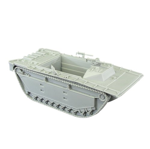 BMC WW2 Gray Amtrak LVT - 1:32 Amphibious Vehicle for Plastic Army Men